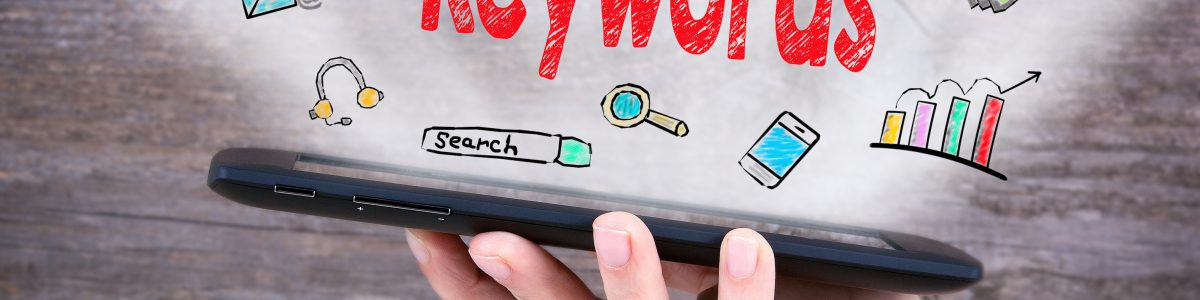 スマホでキーワードを検索するイメージ