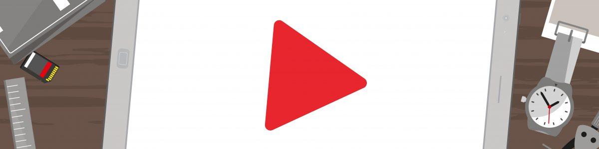 youtubeで動画を投稿するイメージ