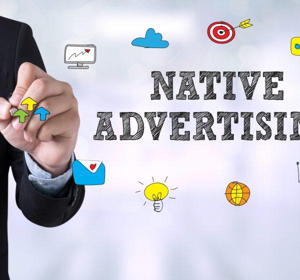ネイティブ広告の文字と男性