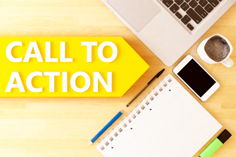 Call to actionと書かれた矢印
