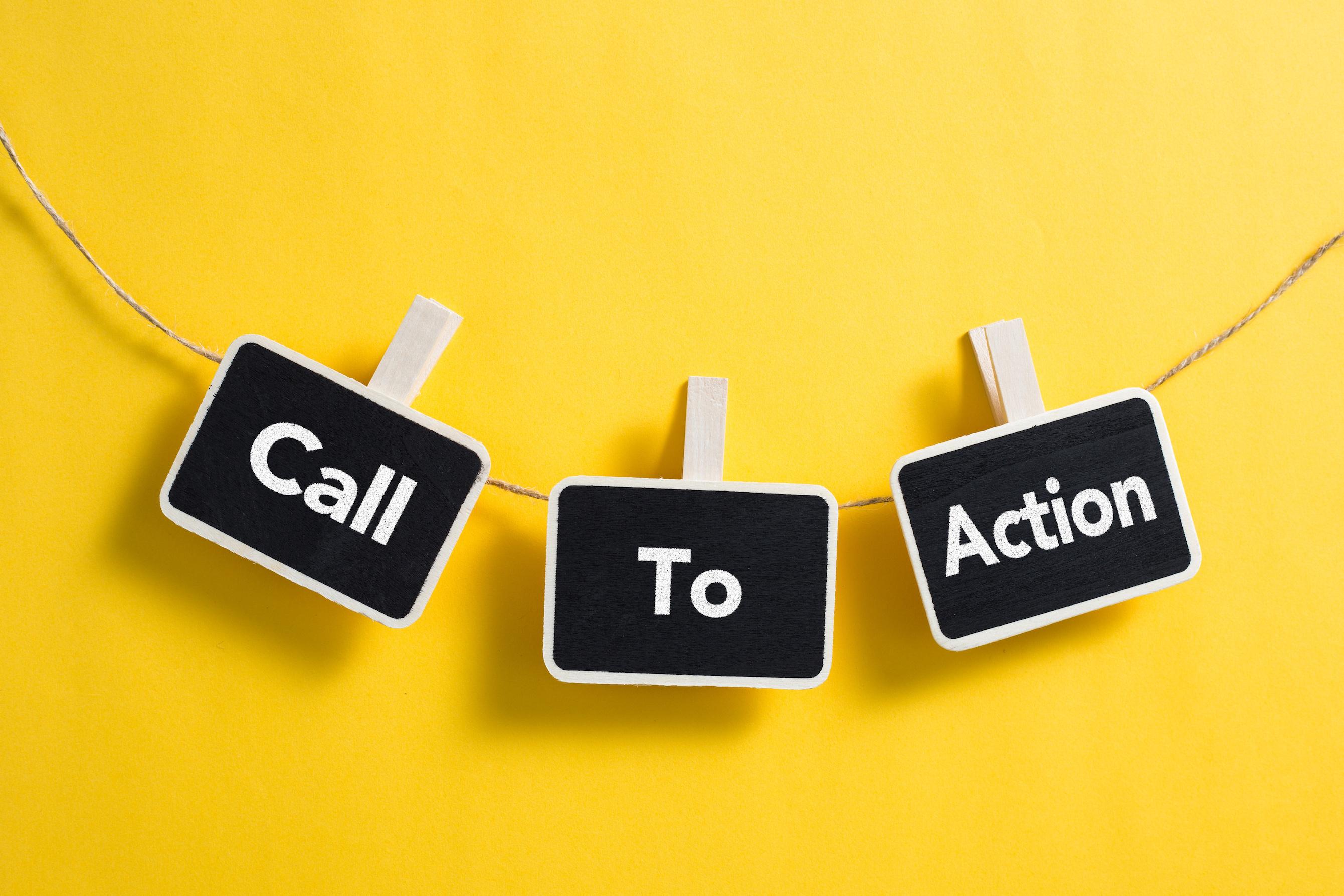 call to actionと書かれたメモ