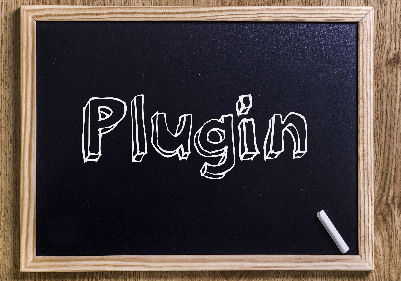 プラグインの書かれた黒板