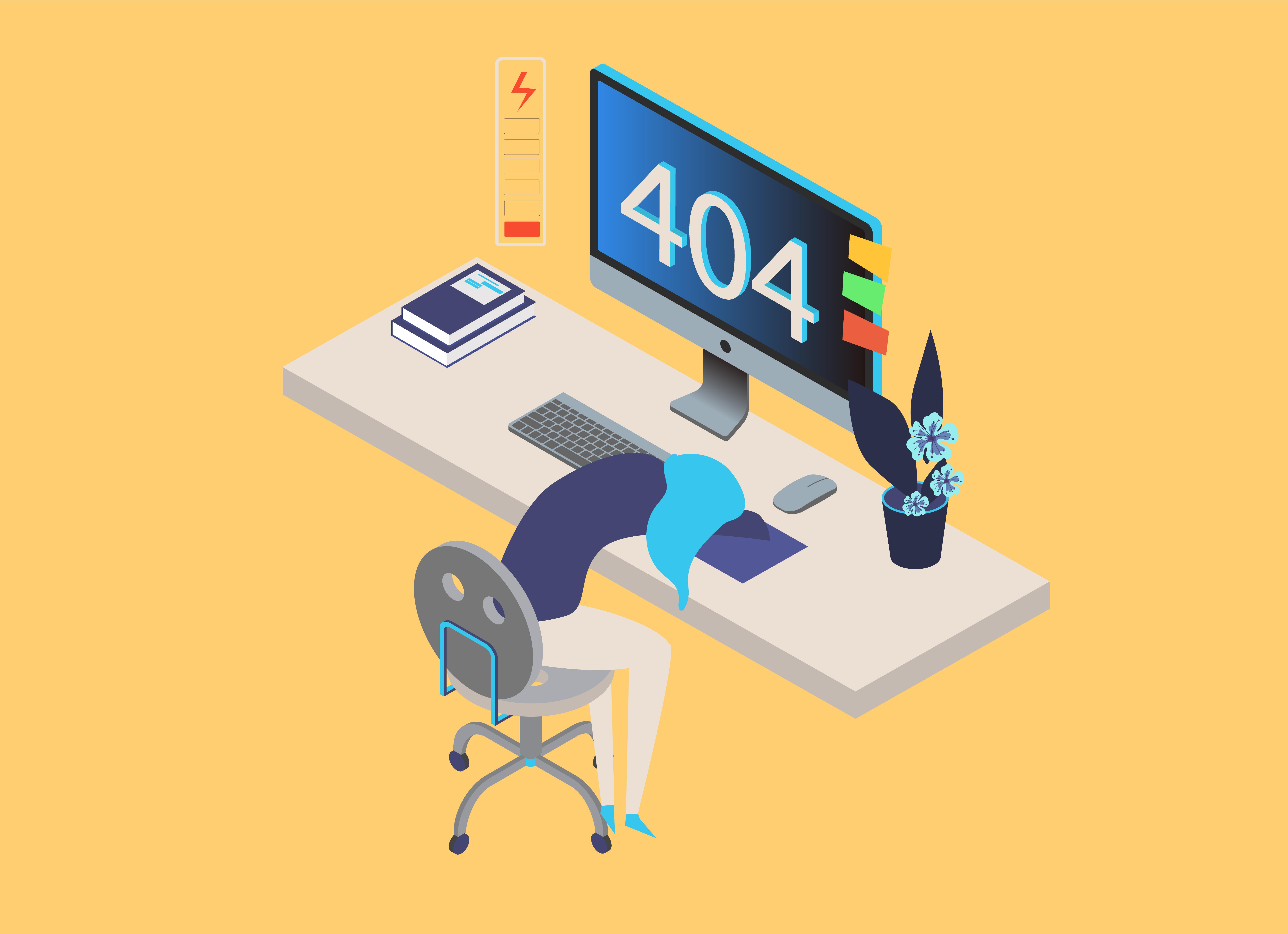 404エラーが表示された女性