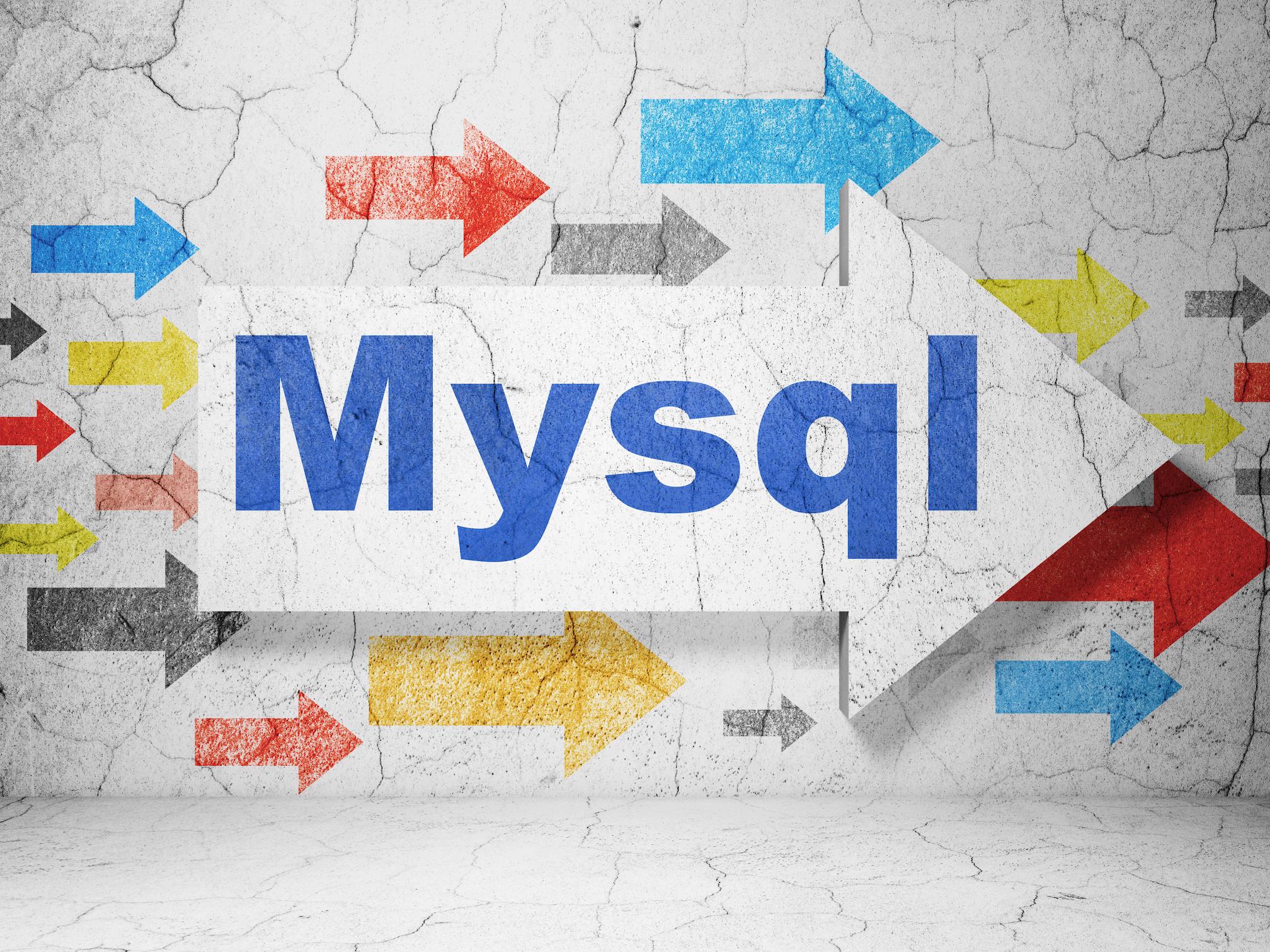 MySQLの文字と矢印