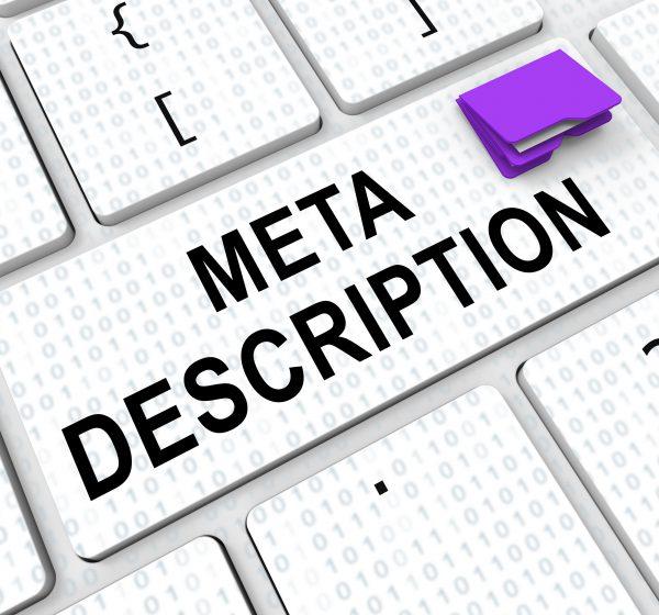 meta-descriptionと書かれたキーボード
