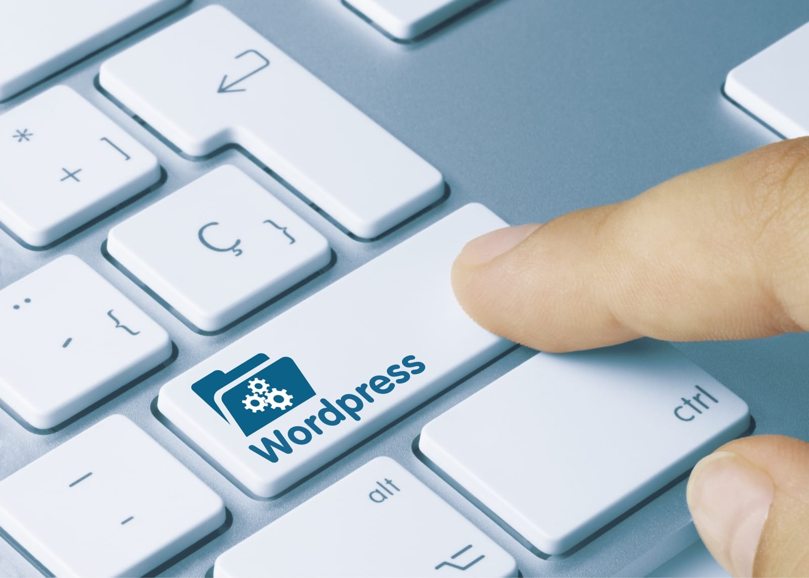 Wordpressのキーを押す様子