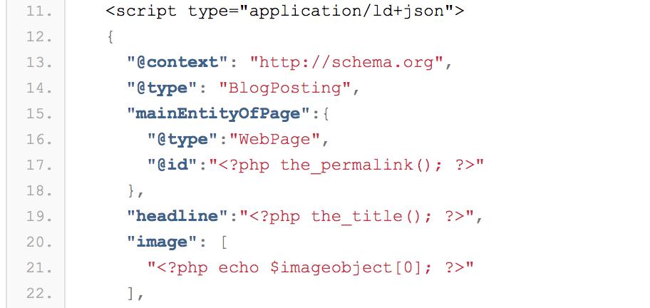 WordPress用の構造化データ