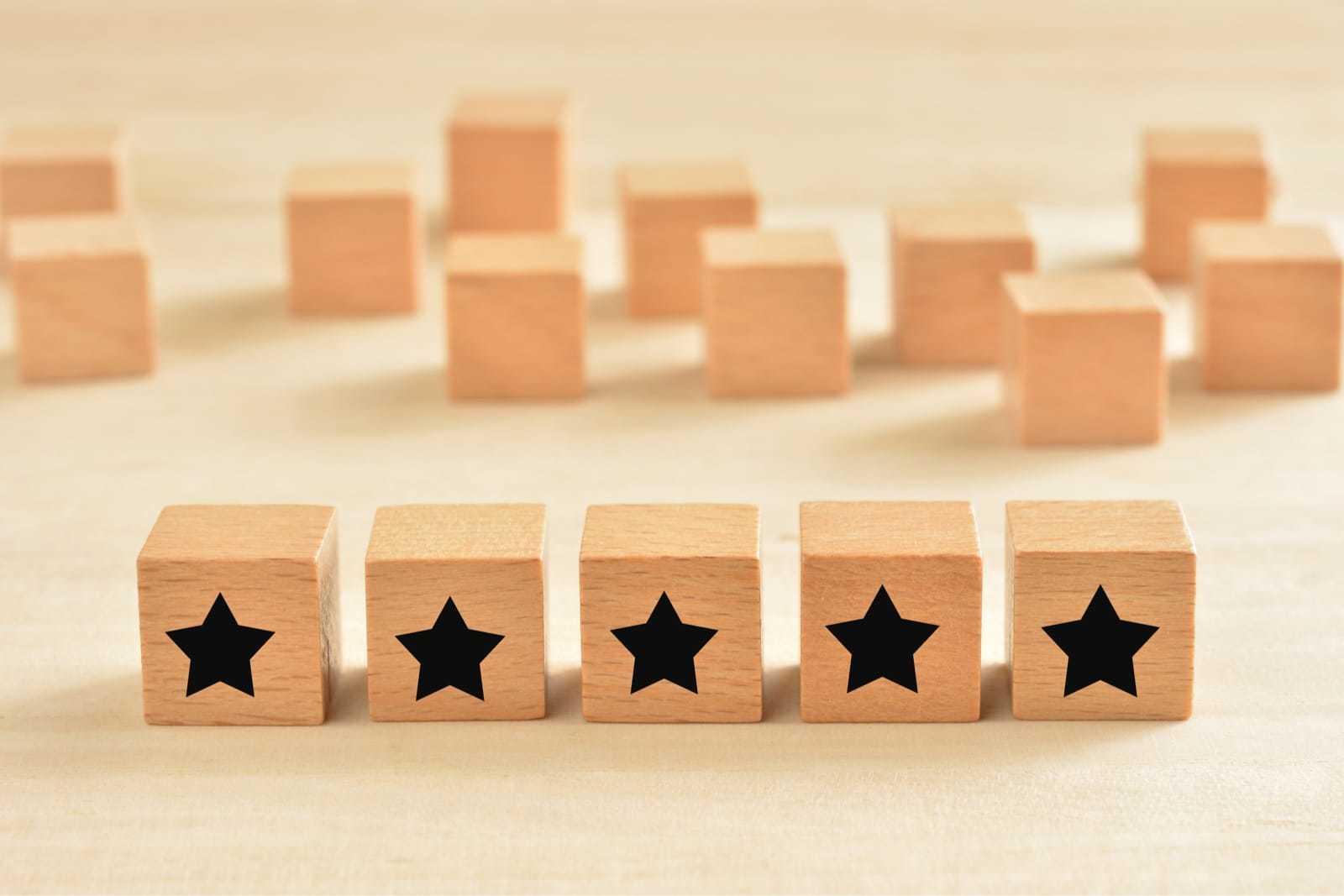 5つの星のブロック