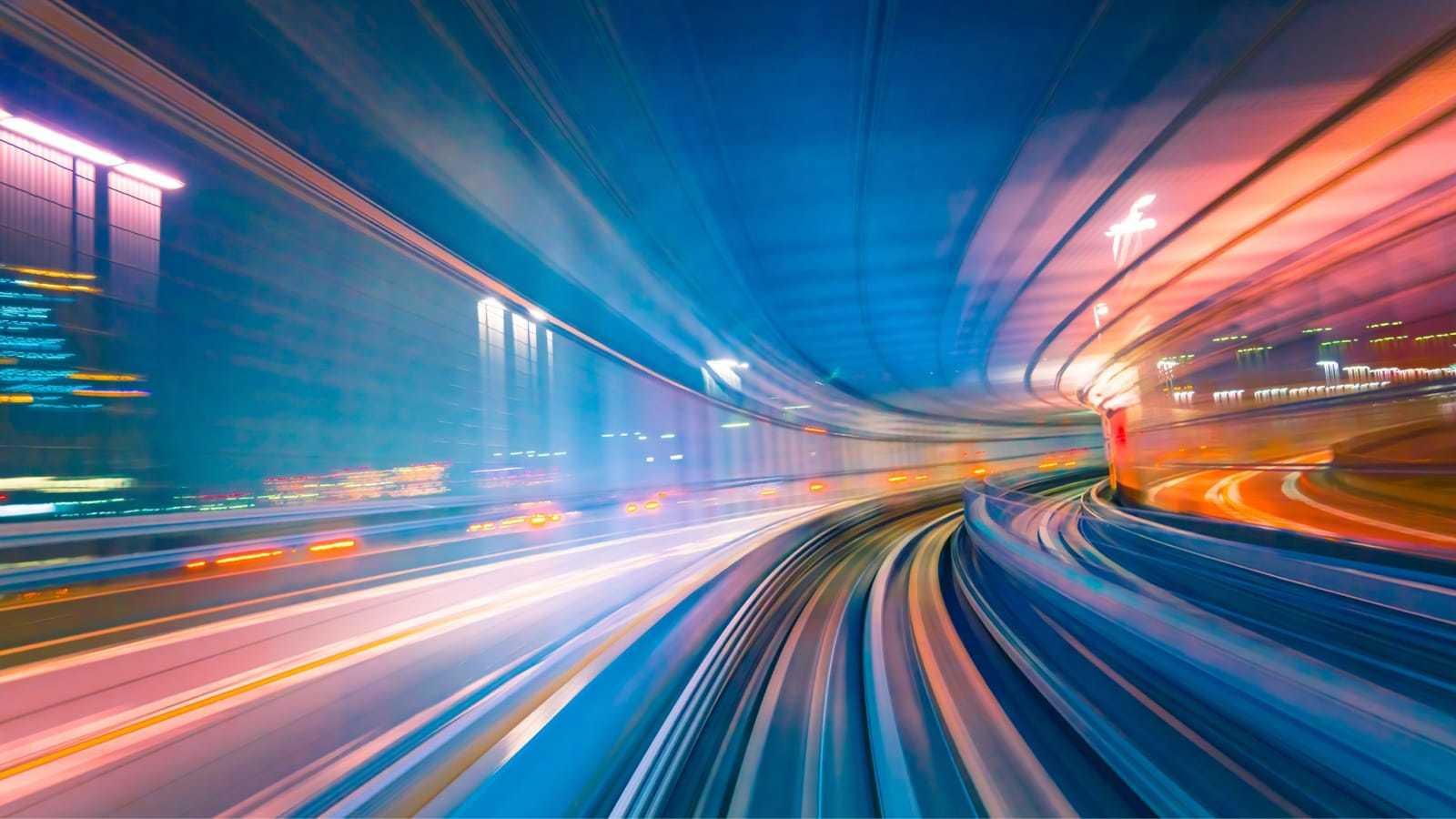 未来的な道路のイメージ