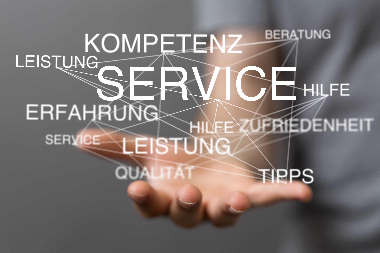 手のひらに様々なサービスをのせるイメージ