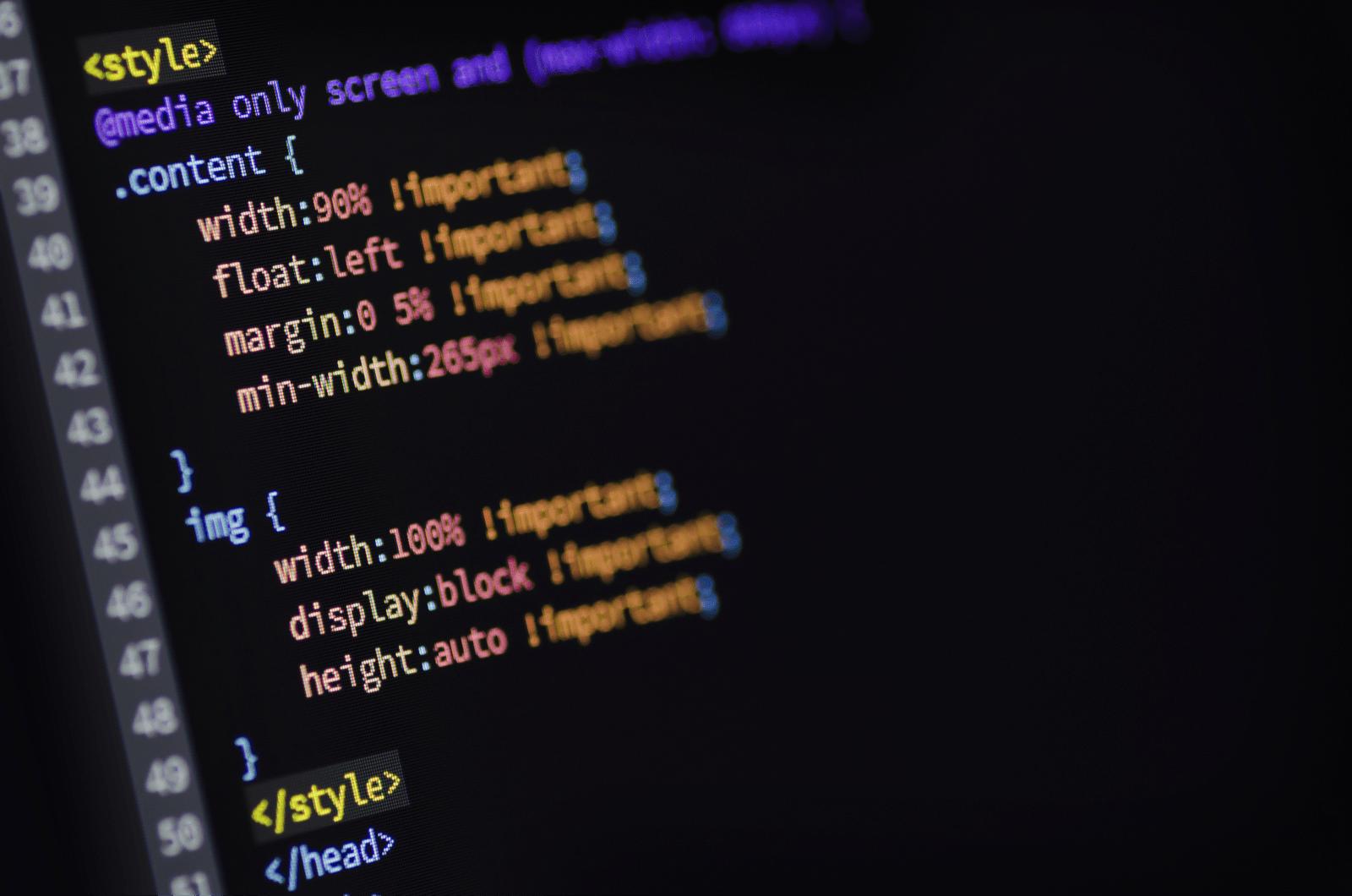CSSのメディアクエリコード