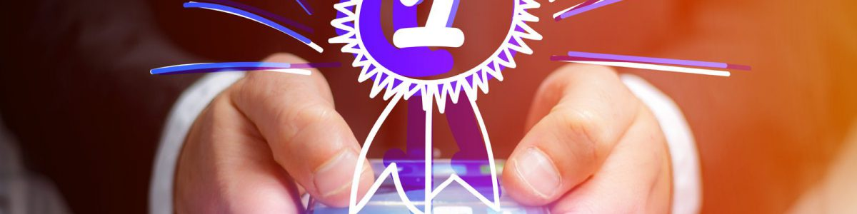 スマートフォン上に「1」が浮かび上がる
