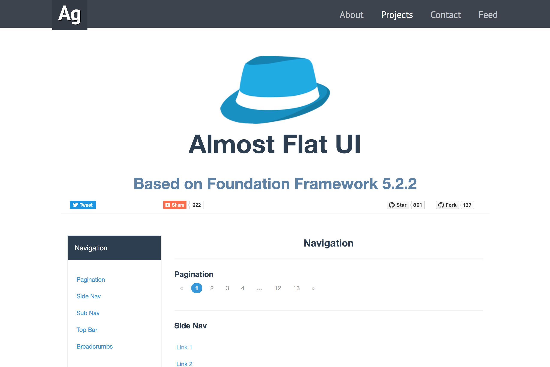 Almost Flat UI
