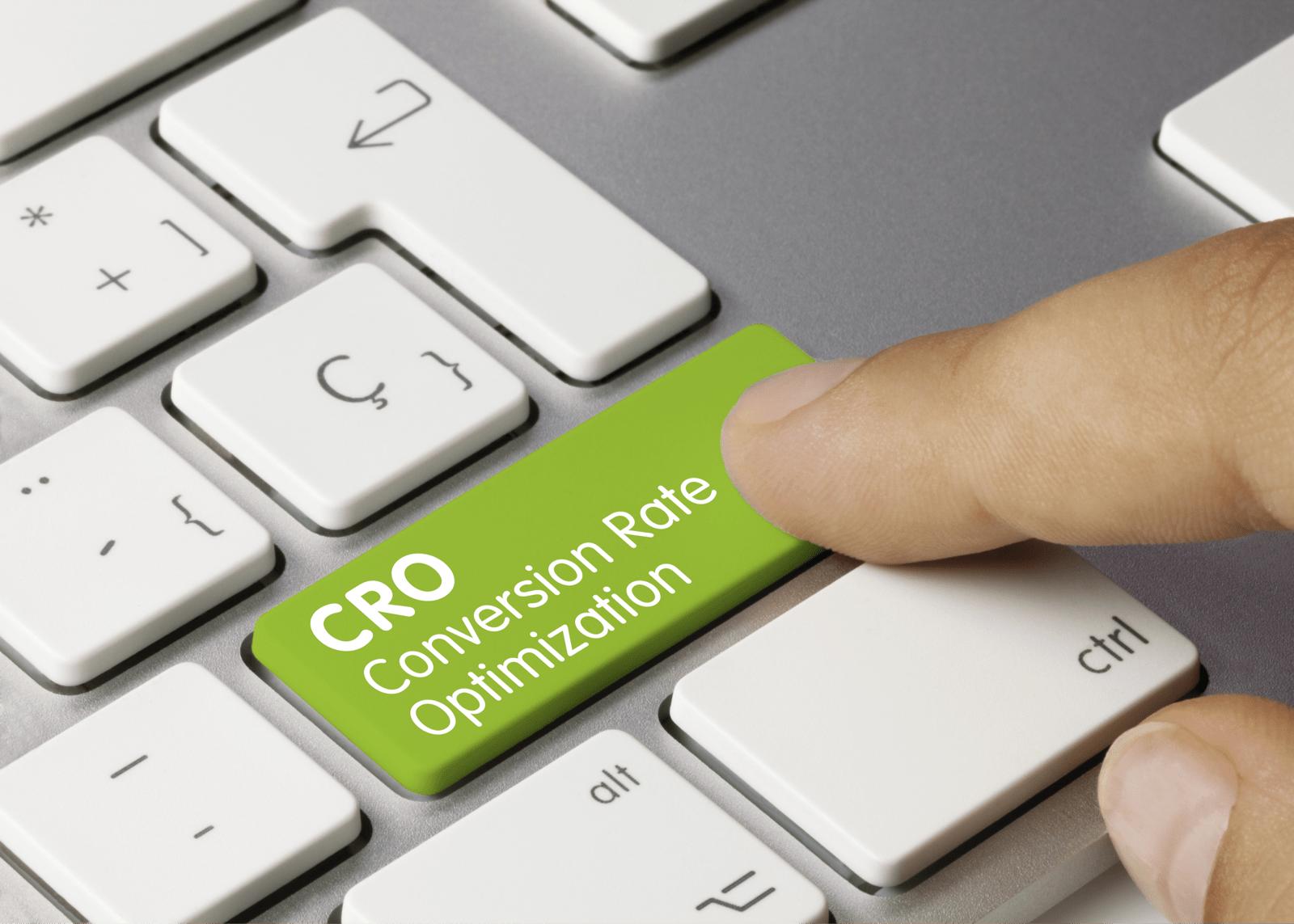 CRO Conversion Rate Optimizationと書かれたキー