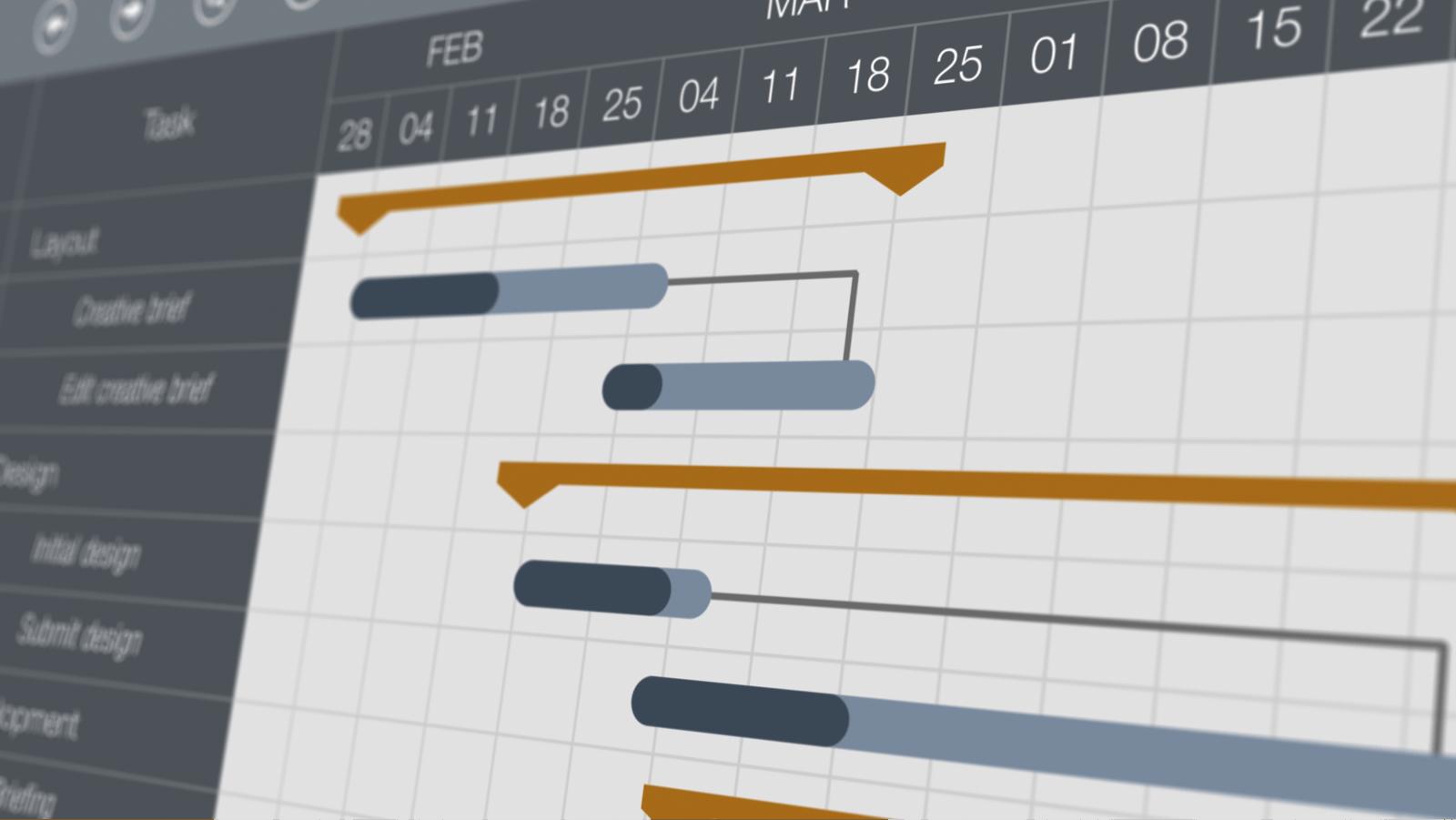 プロジェクト管理ツールのモニタ画面