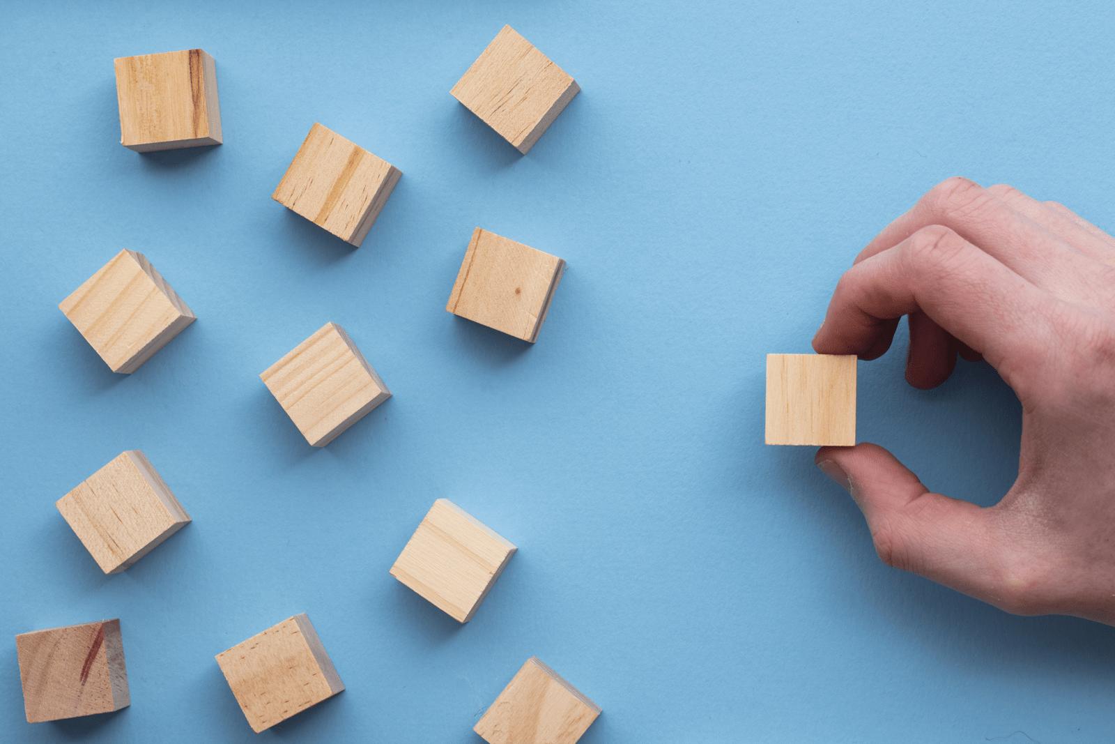 複数のブロックの中から1つを選ぶ